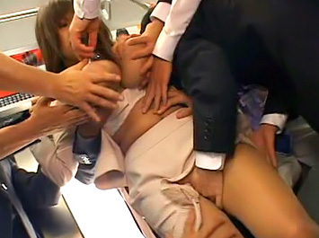 Chikan party - Asian Group Sex